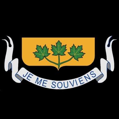 Blason du Québec - bas - fond noir - 725x725