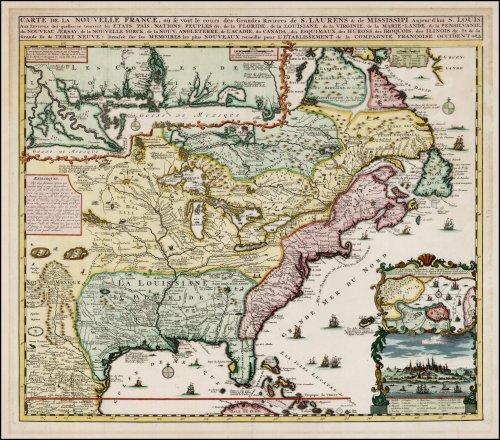 Carte de la Nouvelle-France 1684