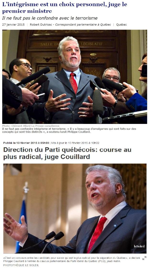 Philippe Couillar - Intégrisme choix personel, souverainisme radical